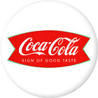 Coca-Cola Fishtail Logo Disc White Removable Wall Decal Button 1960s Style $9.99  on eBay