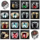 Heavy Stainless Steel Mens Cubic Zirconia Gemstone Fashion Rings Jewelry US 7-15 image