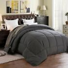 Home Luxury All Season Goose Down Alternative Quilted Corner Tabs Comforter New
