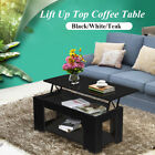Mechanism Lift Up Top Coffee Table Furniture with Hidden Storage & Bottom Shelf