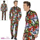 Mens Day Of The Dead Skull Stand Out Suit Costume Adult Halloween Fancy Dress