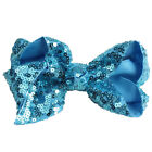 Wholesale Baby Kid Girl Large Hair Bows Sequin Alligator Clips Headwear 13Colors