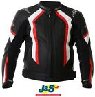 RST R-14 1088 Leather Motorcycle Jacket Motorbike Red Racing Race Sport J&S