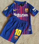 Barcelona F.C. Messi futbol soccer kid's kit for ages 8 to 9 years old