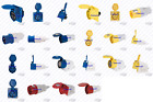 New 16A PLUG SOCKETS 3PIN 5PIN 400V 240V 110V IP44 BLUE RED YELLOW Industrial ✔