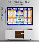 Russia World Cup Wall Chart 2018 Premium Quality Room Wall Poster A0 A1 A2 A3 A4