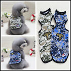 Spring Tour Dog Shirt Puppy Vest Summer Pet Clothes  Camouflage Dog Apparel