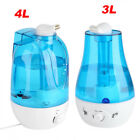 3L/4L Ultrasonic Humidifier Diffuser Home Mist Maker Air Purifier With LED light
