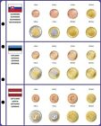 Lindner 8450-39 Illustrated page EURO COLLECTION: EURO coin sets Slovakia/Estoni