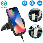 Fast Qi Wireless Car Charger CD Slot Mount Holder for Samsung S8 Plus iPhone X 8