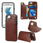 For Iphone 6 7 8 Plus X Leather Slim Wallet Credit Card Slot  Cover Case