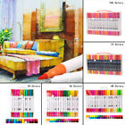 24/100 Colors/ Set Art Drawing Brush+Fine Dual Tip Water Based Marker Pen Gifts
