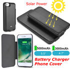 Extraneous Solar Power Bank Battery Charger Case Cover For iPhone 6 6s 7 7 Plus