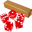 NEW PERFECT 19MM PRECISION CASINO DICE / CRAPS CHOOSE FROM SINGLE DIE TO 5 PACK