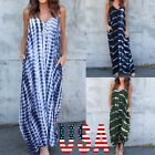 US New Women's Summer Beach Sleeveless Maxi Dress Party Evening Dress Plus Size