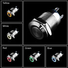 Waterproof 12V 16/19/22mm LED Power Push Button Switch