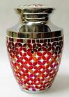 GORGEOUS ADULT MOSAIC CREMATION URNS,NEW MEMORIAL HUMAN FUNERAL URN