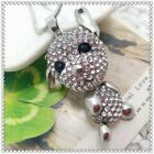 Fashion Crystal Dog Pendant charm Sweater chain necklac EE993