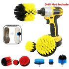 3PCS/Set Wall Tile Grout Power Scrubber Cleaning Drill Brush Tub Cleaner Combo