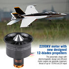12-Blade Prop 70mm Duct Fan 2300KV Motor for RC 1500g Aircraft EDF Jet Air Plane