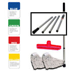 Coded SYR Kentucky Professional Steel Fold Down Mop Handle With x2 Heads