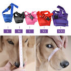 Adjustable Pet Dog Mask Bark Bite Mesh Mouth Muzzle Grooming Anti Stop Chewing