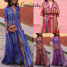USA Womens Boho Long Maxi Dress Lady Evening Cocktail Party Beach Dress Sundress