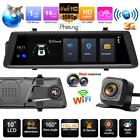 "10"" Phisung V6 Android Car Rearview Mirror DVR Camera Video Recorder GPS WiFi"