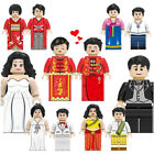 12Pcs Wedding Minifigures Bride Groom Wedding Dresses Building Blocks Brick Toys