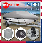 17%2D19+Ft+210D+Heavy+Duty+Fabric+Waterproof+Trailable+Boat+Cover+V%2DHull+95%22+Beam