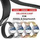 For Fossil Smart Watch Band Strap Magnetic Milanese Loop Bracelet Wristband image