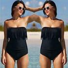 Women One-Piece Swimsuit Tassel Bikini Bathing Beachwear Swimwear N98B