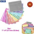 CANDY STRIPE PAPER BAGS SWEET GIFT SHOP PARTY SWEETS CAKE WEDDING SIZE:- 7