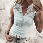 UK Fashion Women Casual Sleeveless Top Vest Blouse Ladies Summer Shirt Lace Tops New with tags