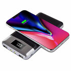 US FDGAO 20000mAh Qi Wireless Charging LCD Power Bank Portable 2USB 2LED Charger