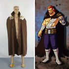 Fairy Tail Gildarts Clive Cosplay Costume only overcoat jacket cape cloak