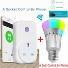 B22 E27 Smart Remote Light Bulb + Wifi Plug Socket For IOS iPhone Android Smart