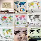 Various Colorful World Map Removable Vinyl Decal Wall Sticker Home Room Decor