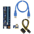 Mini PCI-E Express 1x To 16x Extender Riser Card Adapter USB 3.0 Power Cable USA