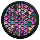 Moustaches 3D Wall Clock 360 Degree Rotation Large 12 Purple Hanging Clock