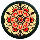 Red 3D Wall Clock 360 Degree Rotation Large 12 Round Wall Hanging Clock