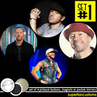 Donnie Wahlberg SET OF 4 BUTTONS or MAGNETS or MIRRORS pins badges nkotb 1836