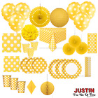 YELLOW Colour Spots Disposable TABLEWARE & DECORATIONS Catering Birthday Party