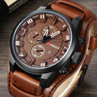 Curren Watch Army Quartz Wristwatches Leather Band Man Casual Sports Watches