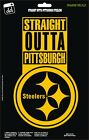 Pittsburgh Steelers Str8 Outta NFL Football Champs Gold Vinyl Decal Car Window