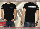 Men's Professional Security T-shirt Black With Reflective Print Short Sleeve