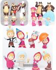 Lot of Masha And The Bear Action Figure Cute Doll Cake Topper Play set Toy Gift