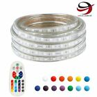 Led Strip Rope Wire Light Rgb Flexible Xmas Party Decor + Remote Waterproof 110v