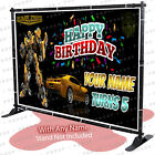 Transformers Bumblebee Birthday Banner Personalized Party Backdrop Prime kid