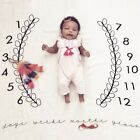 Baby Photo Blanket Baby The Clock Blanket Soft Cotton Swaddle Carpet E4A4